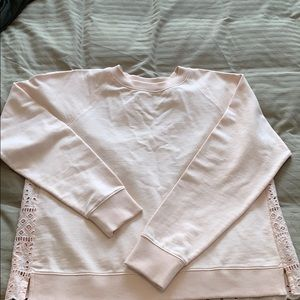 NWT NBW jcrew sweatshirt with lace backing